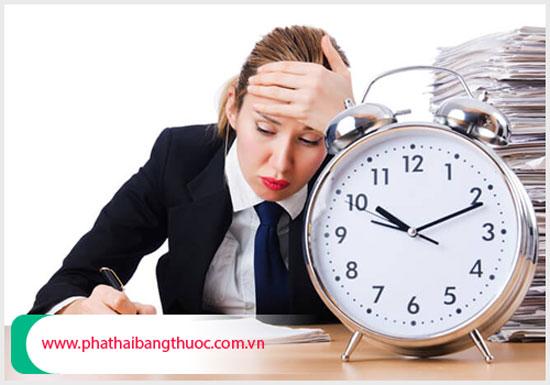 Nữ giới bị chậm kinh cần tránh căng thẳng mệt mỏi
