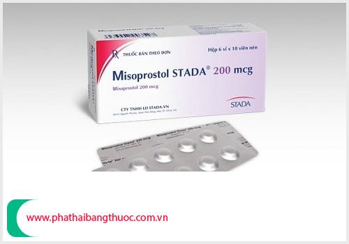Misoprostol dùng để ngậm