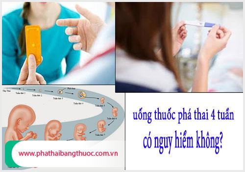Uống thuốc phá thai 4 tuần tuổi có biến chứng gì không?